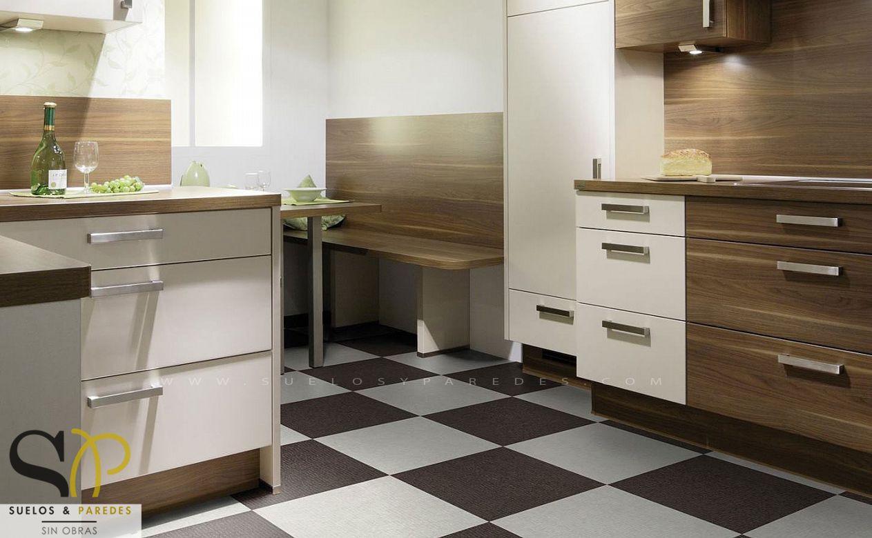 Paredes cocina sin azulejos perfect cmo tapar azulejos for Cocina sin azulejos