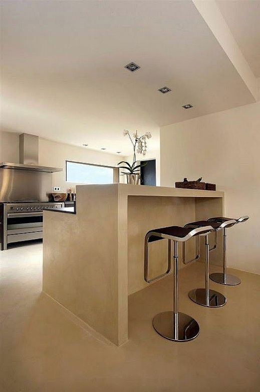Patio rustico interior inspiraciones - Paredes de cocina sin azulejos ...