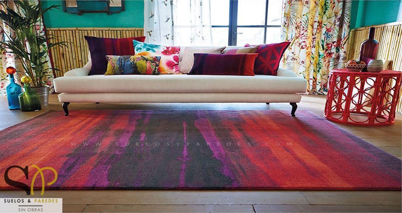Hall y salones for Alfombra colores